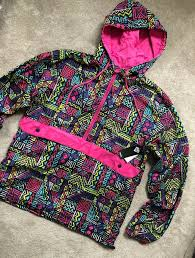 hoody festival neon rain jacket coat
