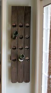 Diy Wall Mount Riddling Wine Rack From An Old Fence Shelterness