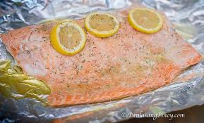 baked salmon with lemon garlic and