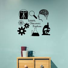 Learn Discover Explore Wall Stickers Science Decal Learning I Love Science Classroom Decor Scientist Decals For Teacher S444 Classroom Decoration Wall Stickersticker Wall Decal Aliexpress