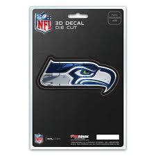 Seattle Seahawks 3d Die Cut Decal New 4 X 2 Window Or Car Flat Deca Hub City Sports
