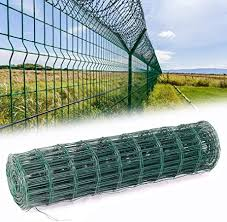 The Fellie Fencing Wire 0 6x10m Pvc Coated Fence Border Steel Mesh Chicken Wire Mesh Breadth 7 5x10cm Amazon Co Uk Kitchen Home