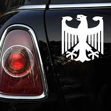 Ck2235 17 15cm German Eagle Car Sticker Vinyl Decal Silver Black Car Auto Stickers For Car Bumper Window Car Decorations Car Stickers Aliexpress