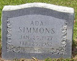 Ada Simmons (1877-1952) - Find A Grave Memorial