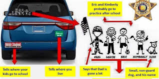 Police Don T Give Out Too Much Information On Bumper Stickers