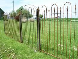 5 Tall Interlocking Wrought Iron Fence Panel