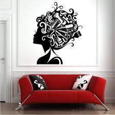 Adesivi murali per parrucchieri Decalcomanie per capelli Adesivi per  parrucchieri Strumenti per parrucchiere Barbiere Salone di bellezza Adesivi  murali autoadesivi 56x70cm: Amazon.it: Fai da te