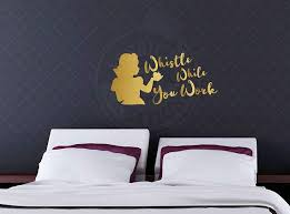 Whistle While You Work Snow White Inspired Quote Disney Wall Vinyl Decal Home Decor Laptop Decal Macboo Vinyl Wall Decals Vinyl Decals Quotes Vinyl Decals