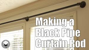 making a black pipe curtain rod you