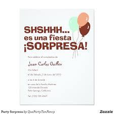 Invitacion Fiesta Sorpresa Zazzle Com Invitaciones De Fiesta