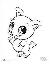 Leapfrog Printable Baby Animal Coloring Pages Pig Tekenen