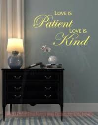 Bedroom Wall Decals Love Is Patient Love Is Kind Vinyl Lettering Stickers Quotes Ebay