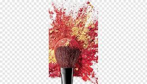 makeup powder and makeup brush