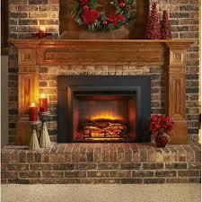 wall mounted electric fireplace insert