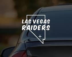 Raiders Vinyl Decal Etsy