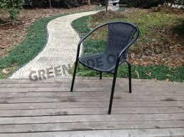 garden rattan wicker woven stack chair
