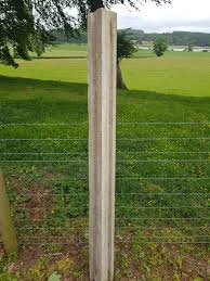 Steel Reinforced Concrete Slotted Fence Posts 6ft 8ft 9ft