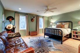 Country Kids Bedroom With Leather Sofa Country Boy S Room