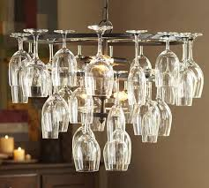 wine glass rack chandelier pottery barn