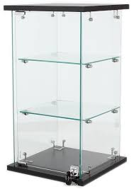 counter top glass display case glass