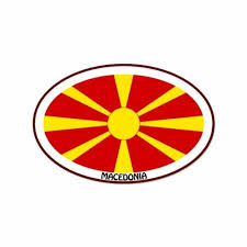 Macedonia Euro Oval Car Window Bumper Sticker Decal 5 X 3 Ushirika Coop