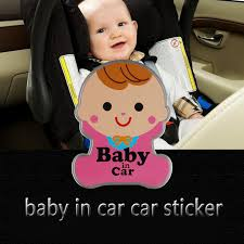 New Lovely Baby In Car Sticker Metal Aluminum Sticker Car Styling Decoration Decal Stickers Baby In Car Sticker Baby In Carcar Decal Sticker Aliexpress