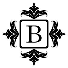 Monogram Vinyl Wall Decal Sticker Custom Ornament Initial Lettering Letter B Ebay