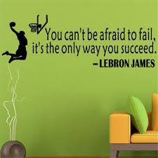 Basketball Wall Sticker Quote From Lebron James Brodbuy