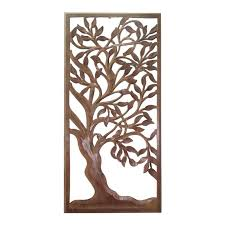 aulla carved wooden spring tree wall