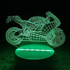 3d Acrylic Motorcycle Led Lamp Discoloration Night Lights For Kids Room Decorative Lamps Remote Control Usb Lights Funny Vehicle Lamps For Family 5920972 2020 22 87