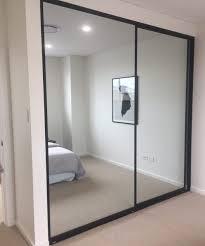 sliding closet doors aluminium frame