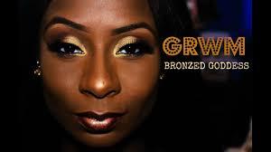 bronze makeup tutorial for dark skin