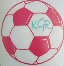 Soccer Ball Vinyl Decal Sticker Water Bottle Decal Laptop Etsy