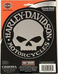 Harley Davidson Window Willie G Skull Chrome Classic Graphix Decal 5 Cg8123 For Sale Online Ebay