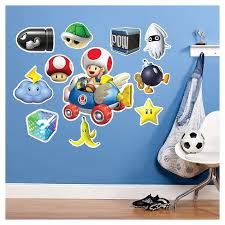 Mario Kart Wii Toad Giant Wall Decals Target