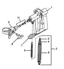 Wagner Airless Paint Sprayer G 06 Spray Gun Parts