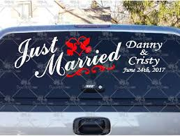 Shop Here For Just Married Dove Rings Decals And Stickers
