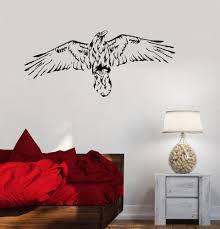 Wall Decal Bird Hawk Eagle Wings Flight Vinyl Sticker Ed1172 Wallstickers4you