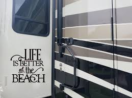 Life Is Better At The Beach Decal Camper Decal Rv Vinyl Decal Sticker Camper Decor Trailer Sticker Vinyl Lettering Decal Beach Decal