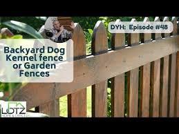 Backyard Dog Kennel Fence Or Garden Fences Youtube