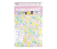 Hello Sanrio Dry Erase Wall Calendar Fast Food Sanrio
