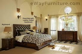 leather tufted headboard bedroom set