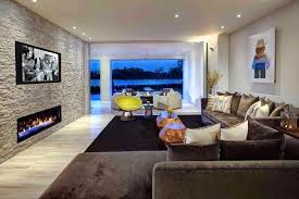 stone accent wall living room rock