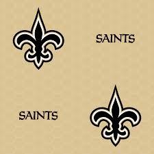 new orleans saints logo pattern gold