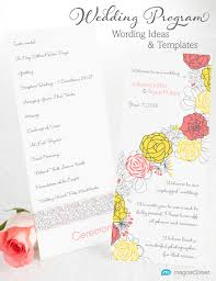 wedding program wording magnetstreet