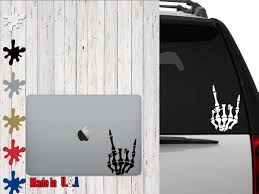Skeleton Hand Rock On Decal Choose Your Size Car Decal Laptop Decal Mug Decal Tumbler Decal Cup Decal Phone Decal By In 2020 Phone Decals Tumbler Decal Cup Decal