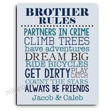 Brother Rules Paper Art Print Brother Wall Art Brother Sign Shared Boys Room Brother Playroom Boy Playroom Brother Gift Brother Decor Qfbzbidw Qfbzbidw 16 32