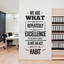 We Are What We Repeatedly Do Office Removable Wall Decal Quote Stickers Decor Ebay