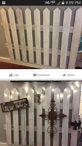 Indoor Outdoor Picket Fence Natural Home Decor Boho Decor Picket Fence Decor