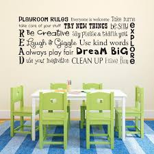 Play Room Rules Wall Decal Playroom Rules Quote Children Etsy